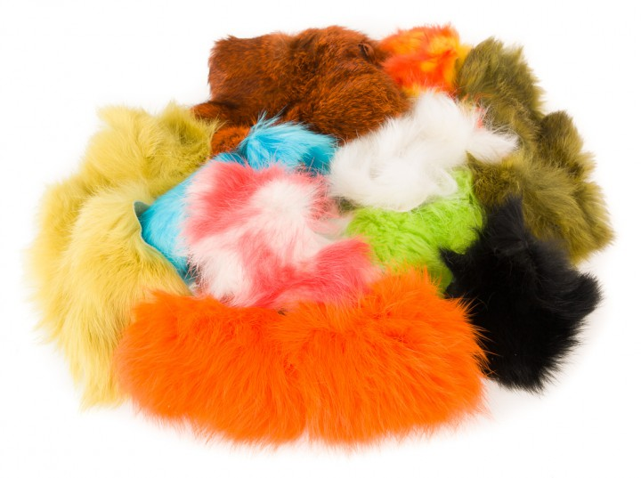 Hareline Rabbit Hide Pieces Variety Pack Hasenfellstücke