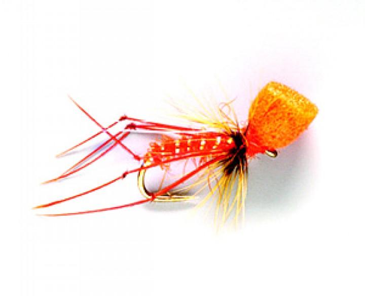 Fulling Mill Trockenfliege - Hopper Popper Grashüpfer orange