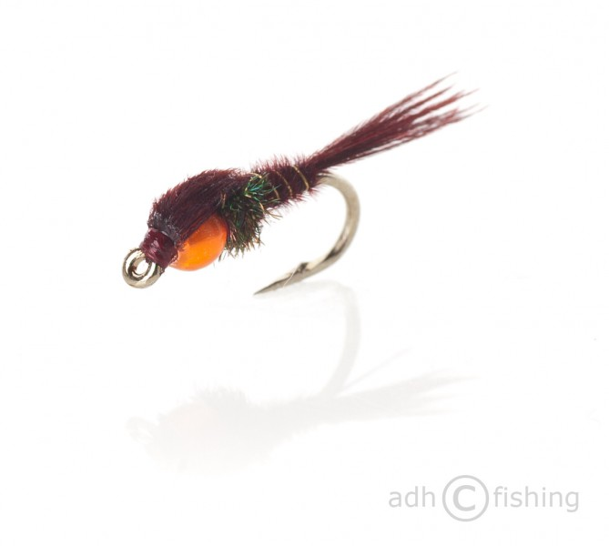 Fulling Mill Nymphe - Hot Head Pheasant Tail Claret