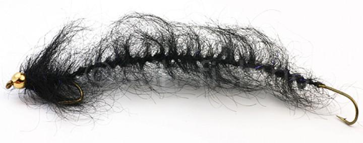Meerforellenfliege Hugormen schwarz