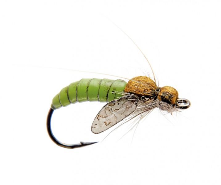 J:son Realistic Flies - Caddis Pupa green