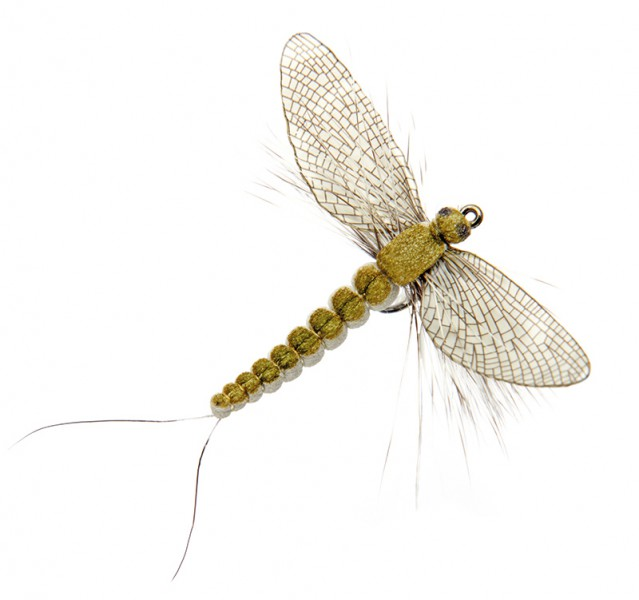 J:son Realistic Flies - Mayfly Spent olive grey