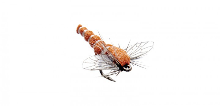 J:son Realistic Flies - Midge Adult red