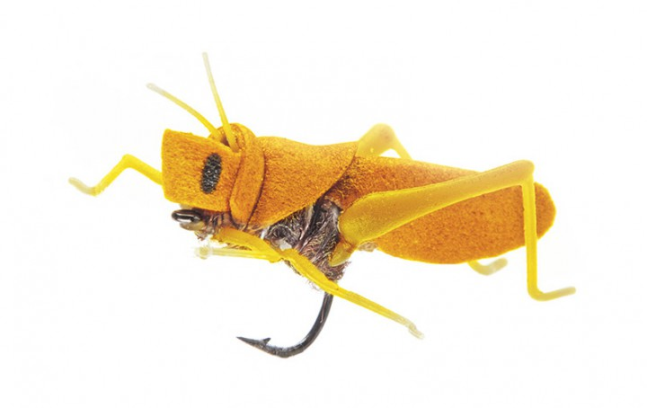 J:son Realistic Flies - Hopper Grashüpfer yellow