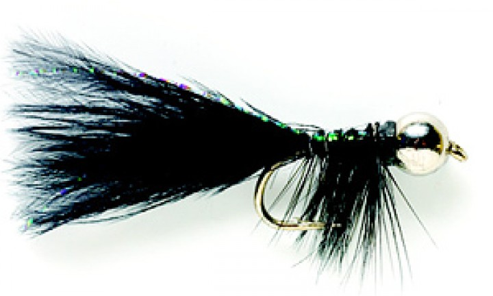 Fulling Mill Streamer JW Nymph schwarz