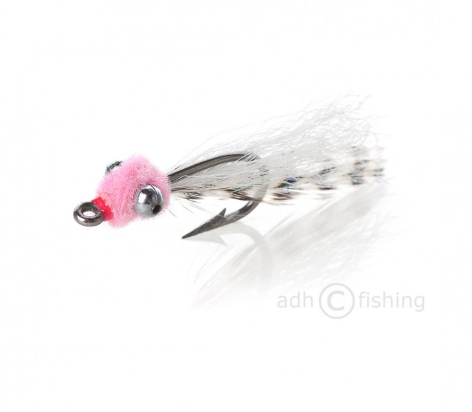 Fulling Mill Salzwasserfliege - Mini Puff hot pink