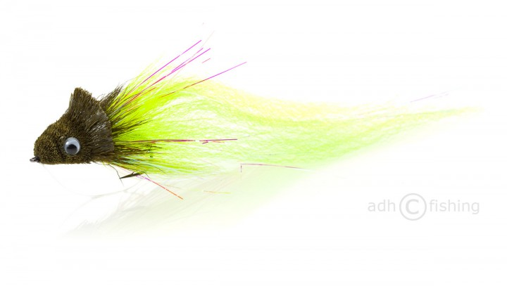 Fulling Mill Streamer - Monster Dahlberg diver chartreuse