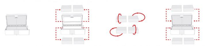 OmniSpool Switchbox-System im Komplett-Set - Schnuraufbewahrung und -reinigung