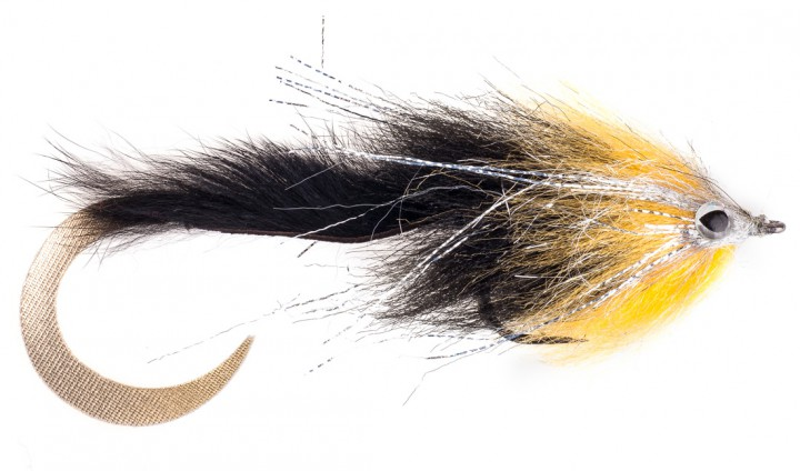 Pacchiarini's Extended Body Wiggle Tail Hechtstreamer gold / schwarz