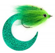 Pacchiarini's Wiggle Tail Hechtstreamer chartreuse / grün