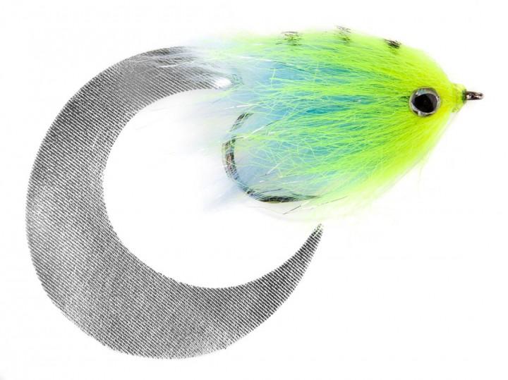 Pacchiarini's Wiggle Tail Hechtstreamer fluo gelb / hellblau