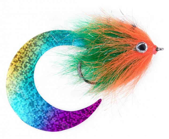 Pacchiarini's Wiggle Tail Hechtstreamer fluo orange / grün