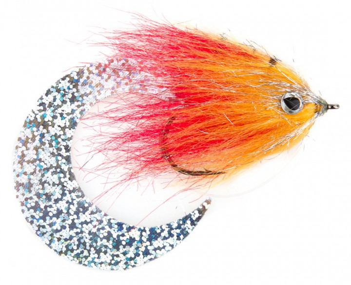 Pacchiarini's Wiggle Tail Hechtstreamer orange / rot