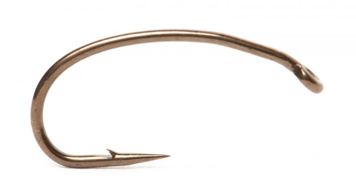 Partridge K4A-S Grub / Shrimp Straight-Eye Haken