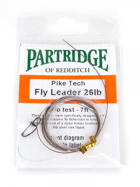 Partridge Pike Fly Leader Stahlvorfach