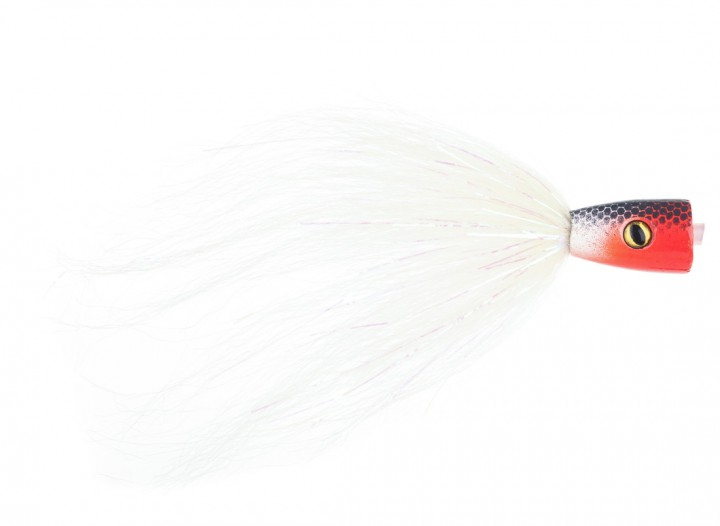 Pike Terror Flies Hechtstreamer Popper Tube RW inkl. Haken
