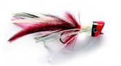 Fulling Mill Streamer - Hechtpopper rot und weiß