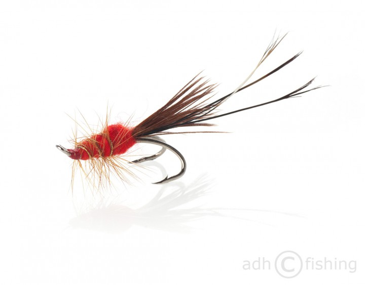 Fulling Mill Lachsfliege Red Francis double