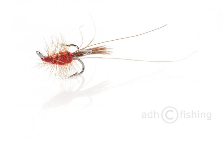 Fulling Mill Lachsfliege red Francis silver treble