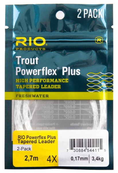Rio Powerflex Plus Tapered Leader 2er Pack