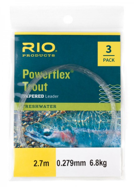Rio Powerflex Tapered Leader Trout 12 ft 3er Pack