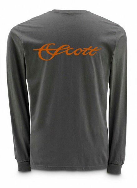 Scott Steel Grey LS Langarmhemd