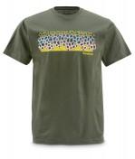 Simms DeYoung Brown Flank SS Tee kurzärmliges T-Shirt