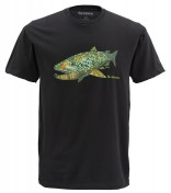Simms Artist Deyoung Brown Trout T-Shirt