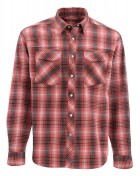 Simms Gallatin Flanel Shirt Langarmhemd garnet plaid