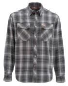 Simms Gallatin Flanel Shirt Langarmhemd raven plaid