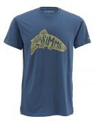 Simms Woodblock Trout T-Shirt