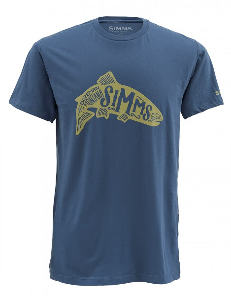 Simms Woodblock Trout T-Shirt