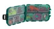 Spro G10 Transparente Fliegenbox Aufbewahrungsdose, 10 Fächer