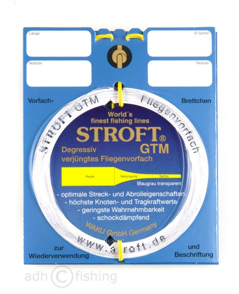 Stroft GTM Vorfachmaterial tapered leader 7,5 ft, 9 ft, 12 ft und 15 ft