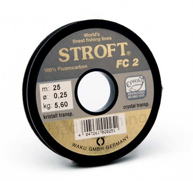 Stroft FC 2 Fluorocarbon Vorfachmaterial 25 m/Spule