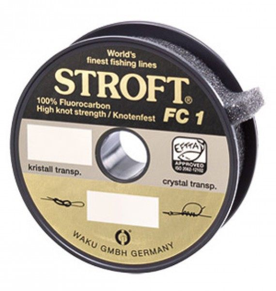 Stroft FC 1 Fluorocarbon Vorfachmaterial 25 m/Spule