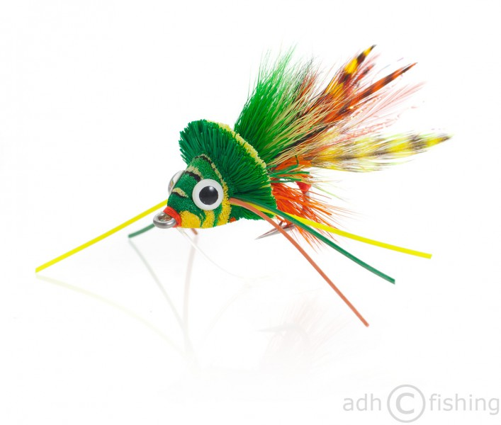 Fulling Mill Streamer - Swimming Frog orange belly