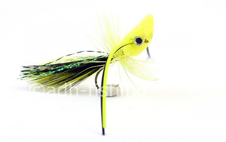 Streamer Trout Popper gelb