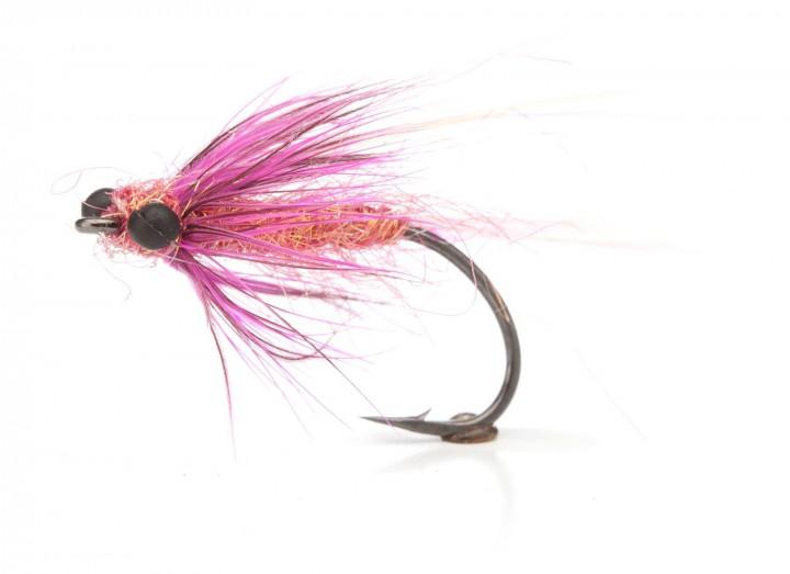 Meerforellenfliege Glimmerfluen pink