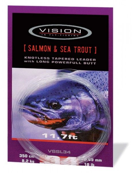 Vision tapered knotless leader Salmon & Seatrout