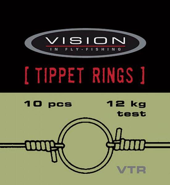 Vision Tippet Ringe mit Einfädelhilfe (Vorfachringe bzw. Pitzenbauerringe)