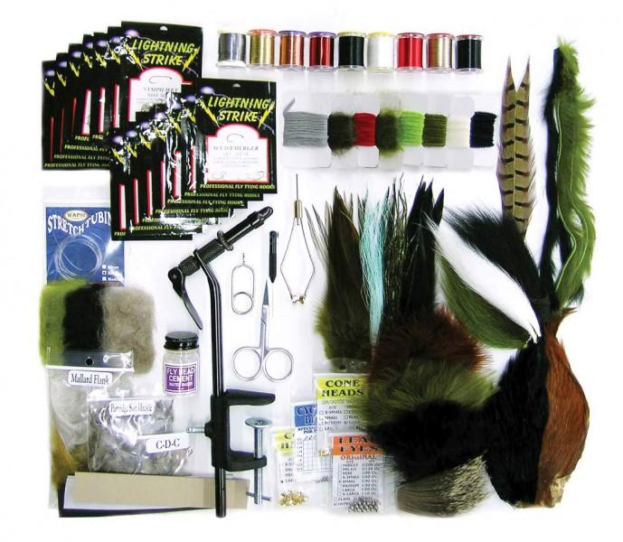 Wapsi Deluxe Fly Tying Starter Kit Fliegenbinde-Set für Anfänger