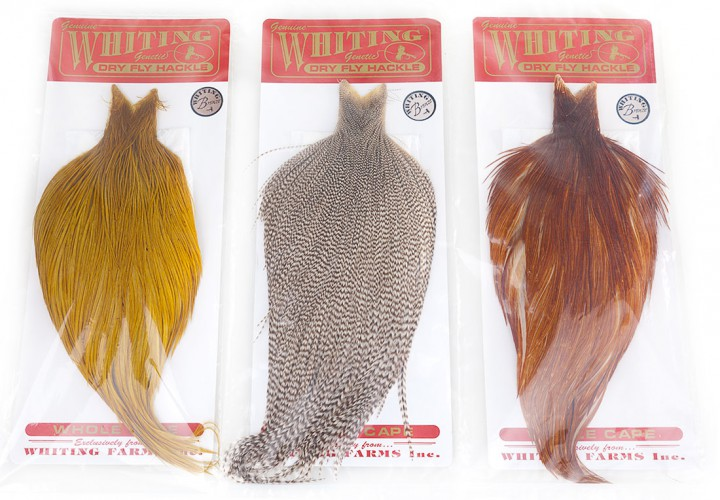 Whiting Dry Fly Capes Bronze als ganzes oder halbes Cape