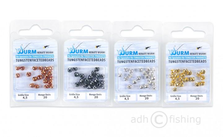 Renate Wurm Tungsten Faceted Beads geschlitzt