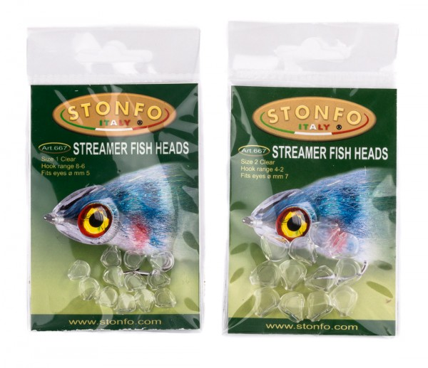 Stonfo 667/668 Streamer Fish Heads Köpfe