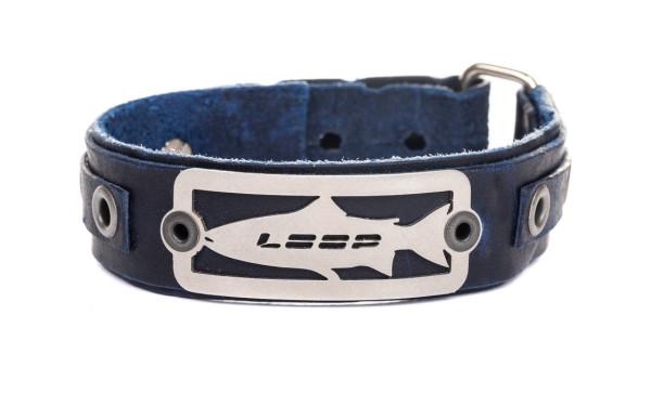 Loop Salmon Bracelet Lederarmband navy