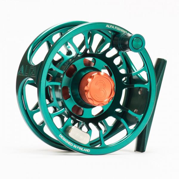 Alfa Plus Fliegenrolle ocean green