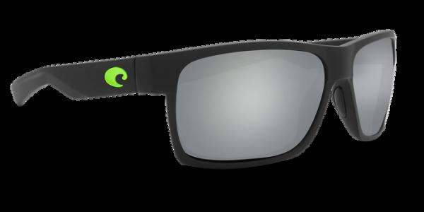 Costa Polarisationsbrille Half Moon Matte Black Green Logo (Gray Silver Mirror 580G)