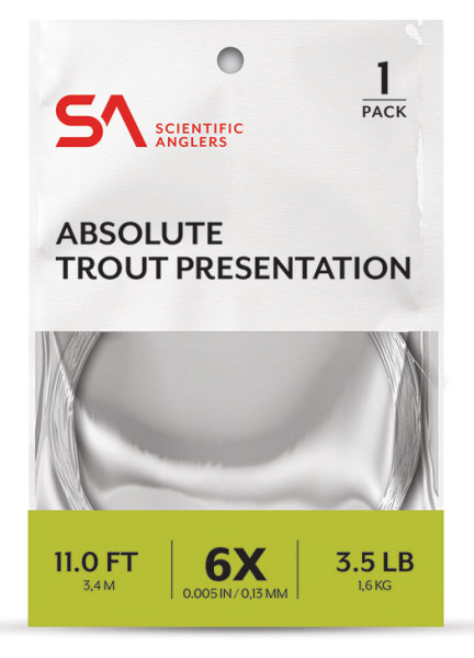 Scientific Anglers Absolute Trout Presentation Leader Vorfach 11 ft.