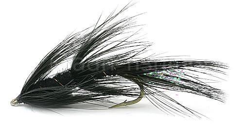 Meerforellenfliege Omo Borsten schwarz